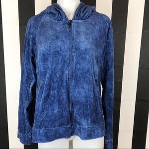 5 for $25 Juicy Couture Blue Acid Wash Velour Hood